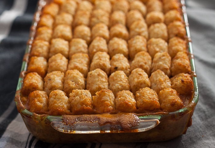 Midwexican tater tot hot dish