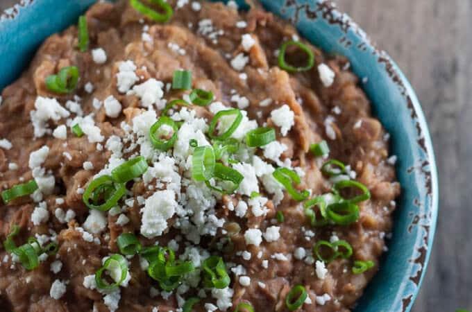 Easy Seasoned Refried Beans