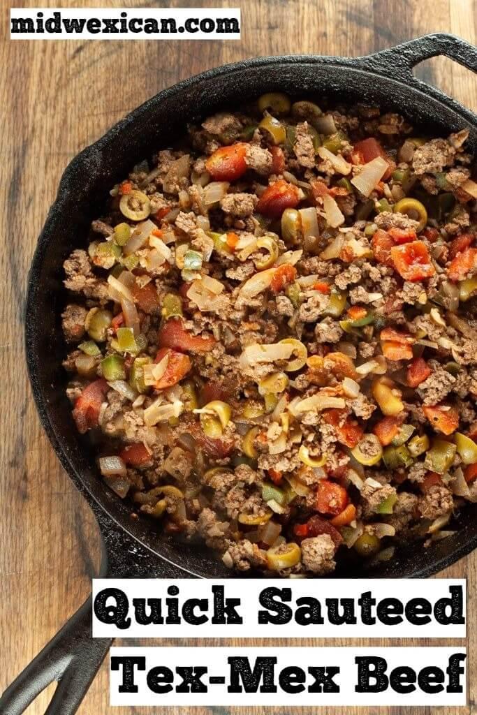 Quick Sauteed Tex-Mex Beef