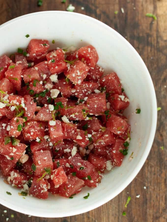 Spicy Watermelon Feta Salad