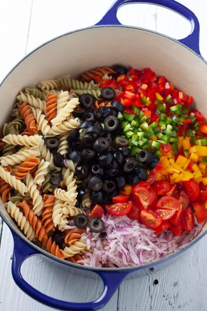 Tex-Mex Pasta Salad Ingredients