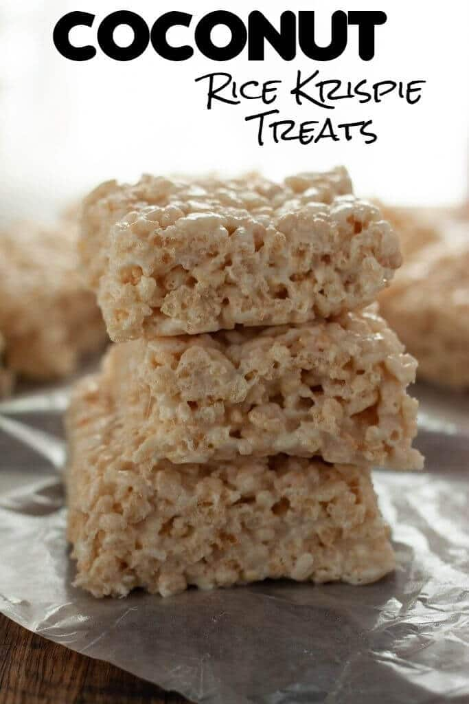 Coconut Rice Krispie Treats are perfect for coconut-crazy confectionistas - and only take mere minutes to make!