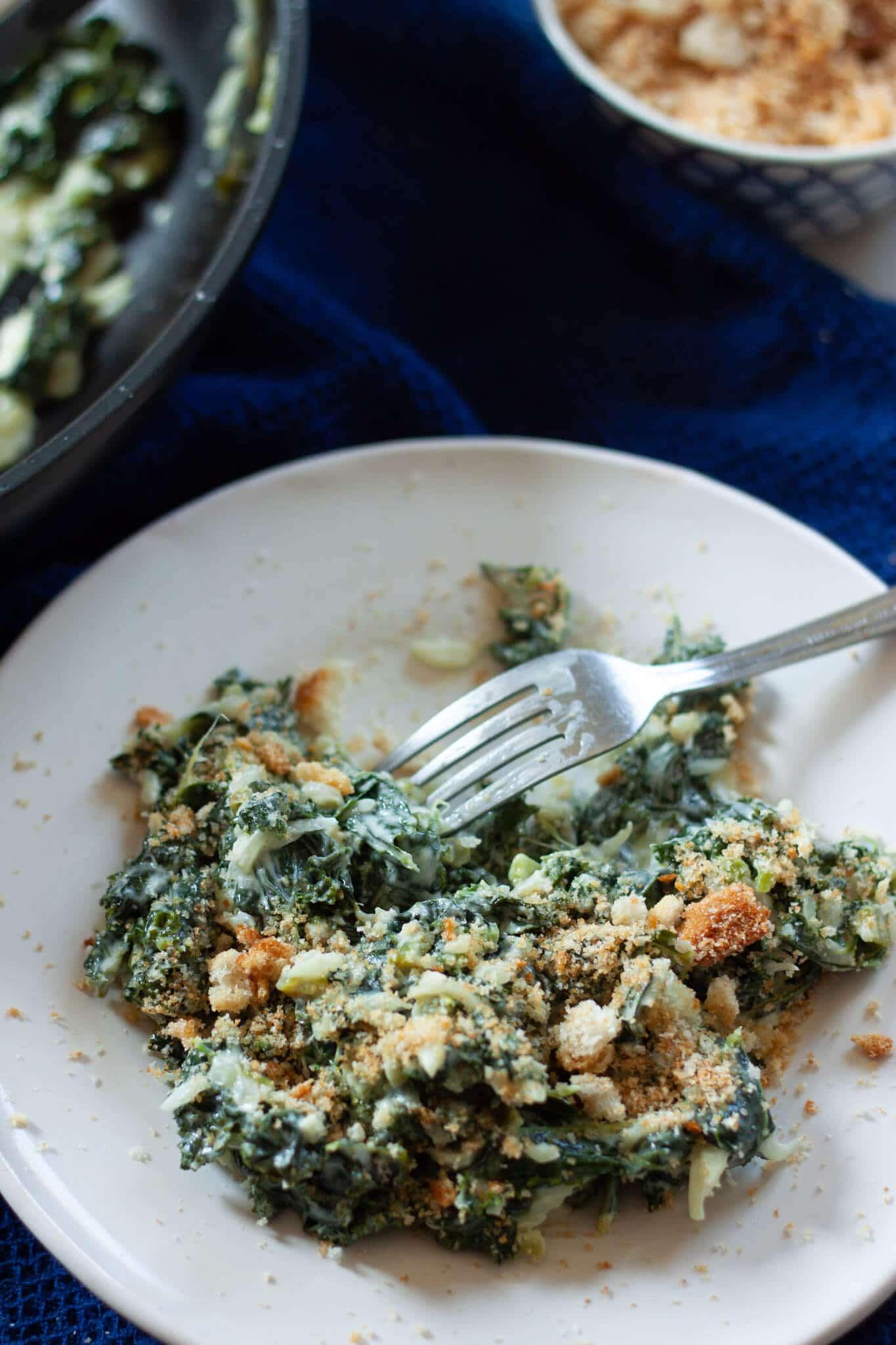 Dinner of Creamed Kale