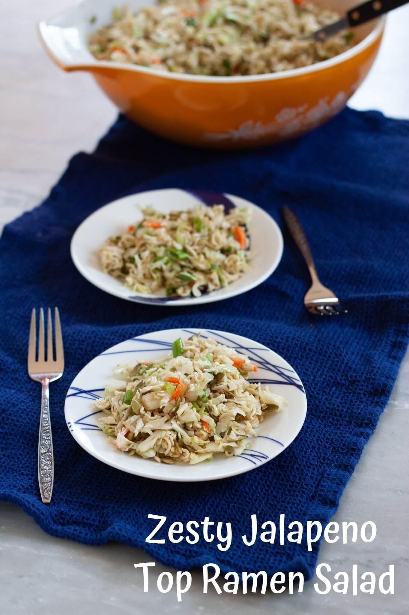 Zesty Jalapeno Top Ramen Salad