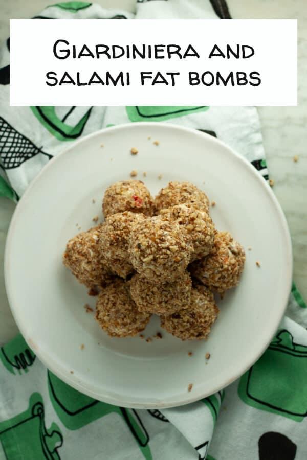 Giardiniera and Salami Fat Bombs