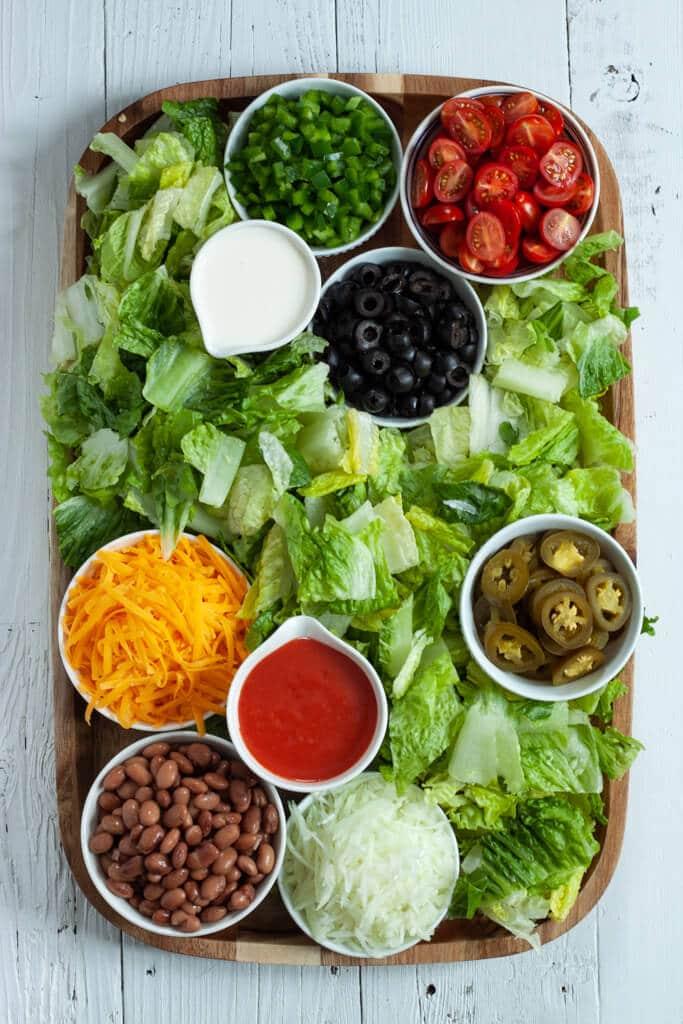 Taco Salad Charcuterie Board