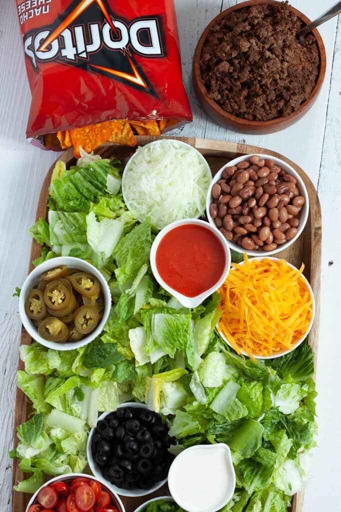 Doritos Taco Salad Board