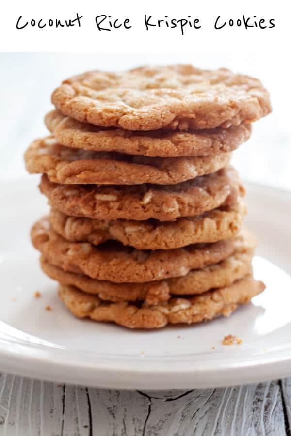 Coconut Rice Krispie Cookies