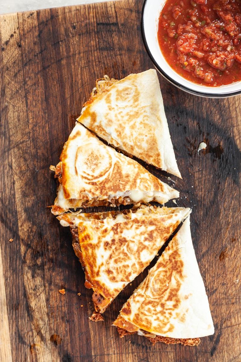 Chorizo and Caramelized Onion Quesadilla