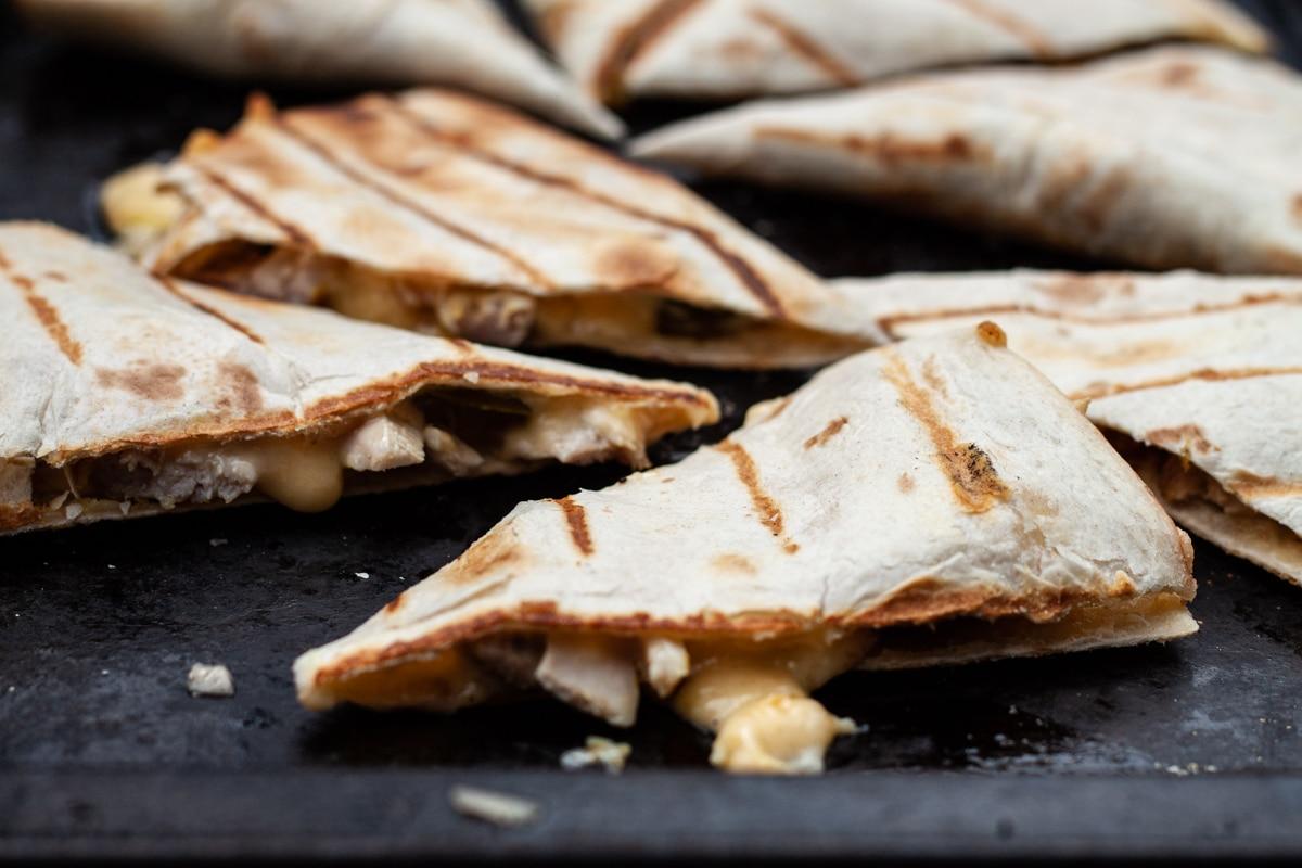 Grilled chicken quesadilla