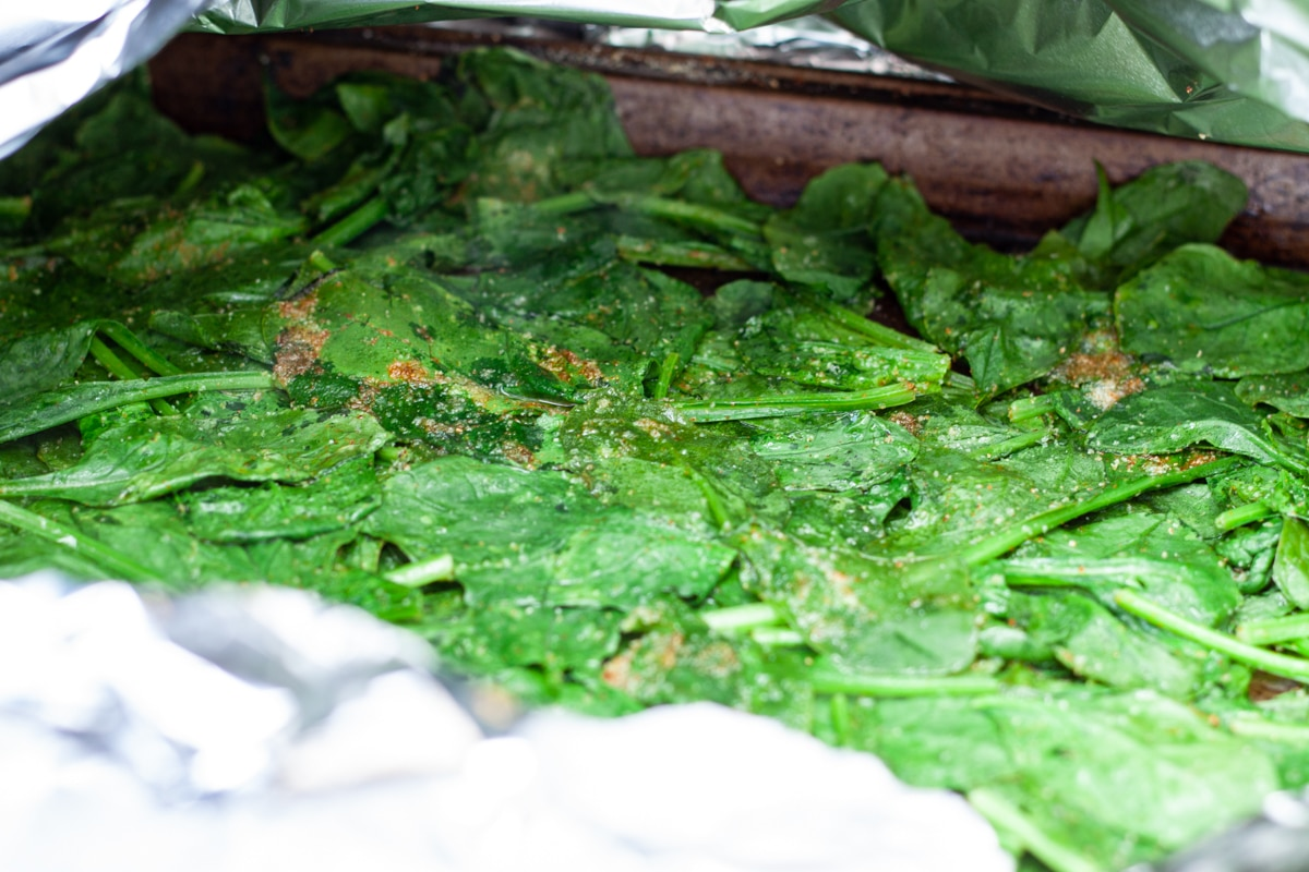 Grilled Spinach