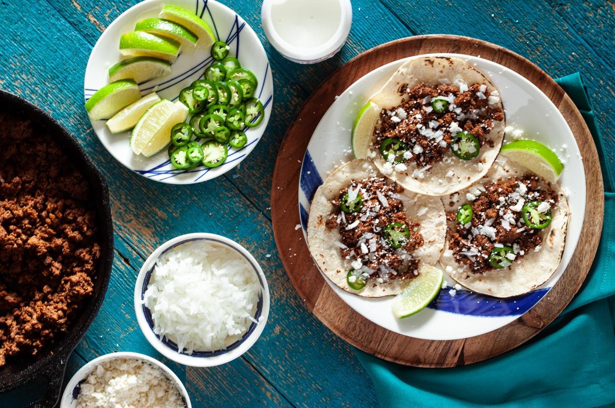 Chorizo Street Tacos